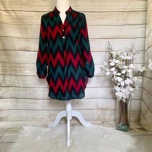 Wishful Park. Chevron tunic. Size M